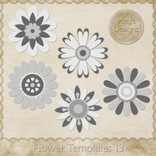 Flower Layered Templates 13 by Josy