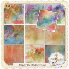 Happy Painted Overlays EXCLUSIVE by PapierStudio Silke
