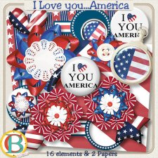 I Love you America EXCLUSIVE by Benthaicreations