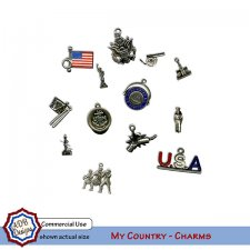 My Country Charms Elements by ADB Designs