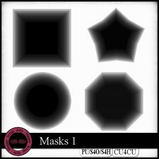 Masks 1 CU4CU by Happy Scrap Art