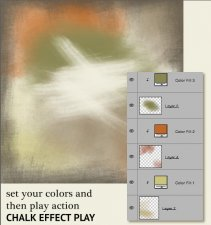 Action Soft Art 10 - Chalk Painting Effect EXCLUSIVE by PapierStudio Silke