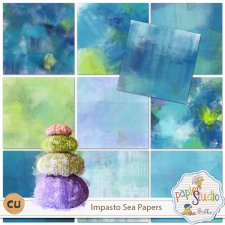 Impasto Sea Papers and Bonus EXCLUSIVE by PapierStudio Silke