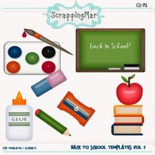 Back To School Template - Clipart by ScrapingMar