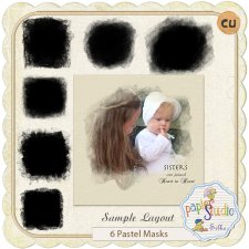 Pastel Masks by Papierstudio Silke EXCLUSIVE by PapierStudio Silke