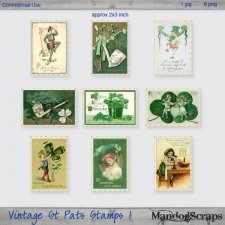 Vintage St Pats Stamps 1