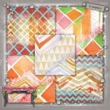 PAPERS Vol 110 Geometric 3 CU byMurielle