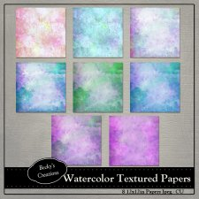 Watercolor Textured Papers by Beckys Creations