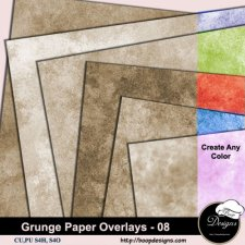 Grunge Paper Overlays 08 by Boop Designs