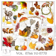 Vol. 0766 to 0770 Autumn Nature Mix by D's Design