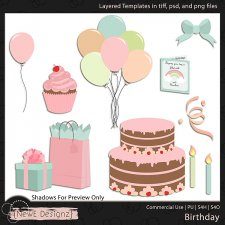 EXCLUSIVE Layered Birthday Templates by NewE Designz