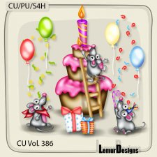CU Vol 386 Birthday Mouses by Lemur Designs