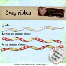 Two-way ribbon ACTION by Monica Larsen