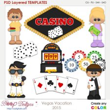 Vegas Vacation Layered Element Templates