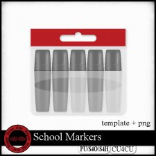 School 2 markers template CU4CU by Happy Scrap Art