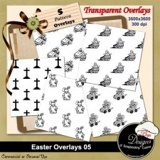 Easter Pattern Overlays 05 by Boop Designs