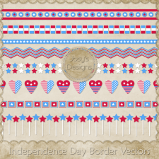 Independence Day Border Layered Vector Templates by Josy
