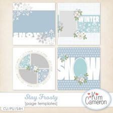 Stay Frosty Page Templates by Kim Cameron