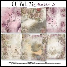 CU Vol. 77 Papers Pack Music 2 by Kreen Kreations
