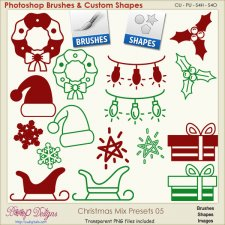 Christmas Brush & Shape PRESETS 05
