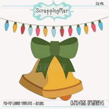 Christmas Ornaments Templates - Lineart by ScrappingMar