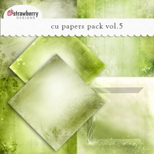 CU Papers Vol 5 Green by Strawberry Designs
