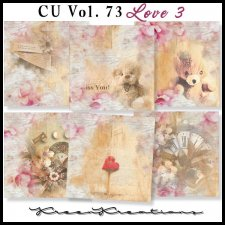 CU Vol. 73 Papers Pack Love 3 by Kreen Kreations