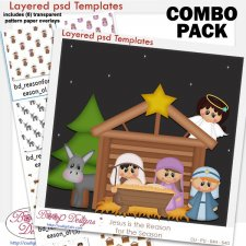 Christmas Navaity Layered Template with Pattern COMBO Set