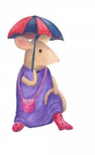 EXCLUSIVE Country Mouse 3 Watercolour by Silver Splashes