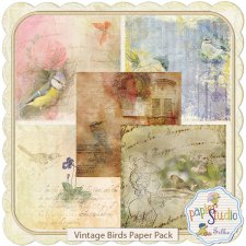 Vintage Birds EXCLUSIVE papers by Papierstudio Silke