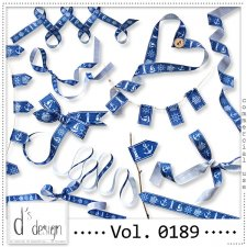 Vol. 0189 - Nautical Ribbons Mix by Doudou's Design