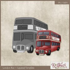 London Bus Layered Template EXCLUSIVE by Kristmess