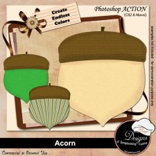 Acorn ACTION by Boop Designs