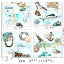 Vol. 0733 to 0736 Summer Sea Mix by D's Design