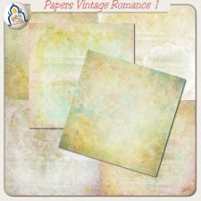 Vintage Romance Papers 1 by Benthaicreations