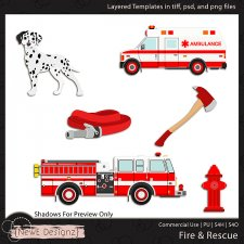 EXCLUSIVE Layered Fire & Rescue Templates By NewE Designz