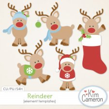 Reindeer Templates by Kim Cameron