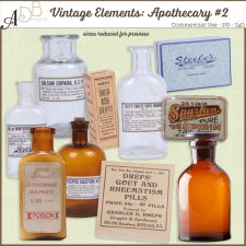 Vintage Elements: Apothecary 02 by ADB Designs