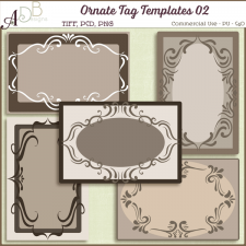 Ornate Tag Templates 02 by ADB Designs