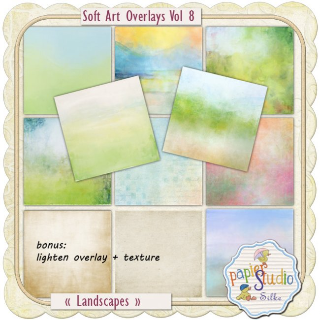 Soft Art Overlays Vol 8 - Landscapes EXCLUSIVE by PapierStudio Silke