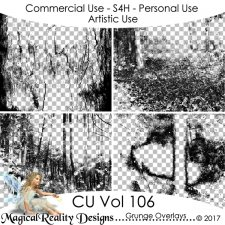 Grunge Overlays - CU Vol 106 by MagicalReality Designs