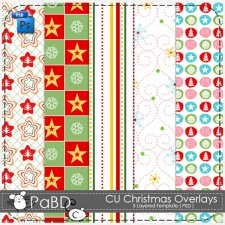 Christmas Overlays Pattern Layered Template by Peek a Boo Designs
