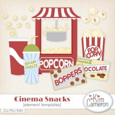 Cinema Snacks Templates by Kim Cameron