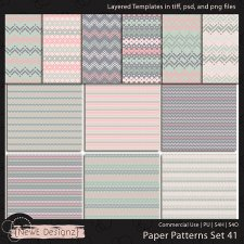 EXCLUSIVE Layered Paper Patterns Templates Set 41 by NewE Designz