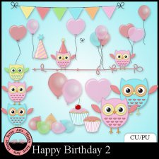 EXCLUSIVE Happy Birthday elements 2 by Happy Scrap Arts