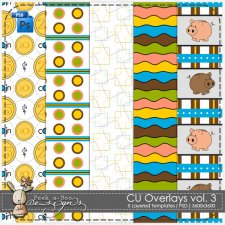 Overlay Pattern Templates vol 3 by Peek a Boo Designs