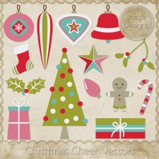 Christmas Cheer Layered Vector Templates by Josy