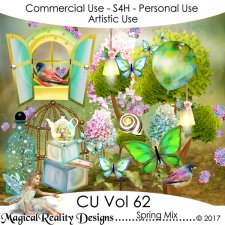 Spring Mix - CU Vol 62 by MagicalReality Designs