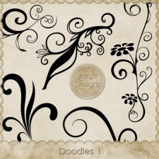 Doodles 1 Layered Templates by Josy
