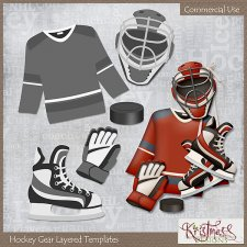 Hockey Gear Layered Templates EXCLUSIVE by Kristmess